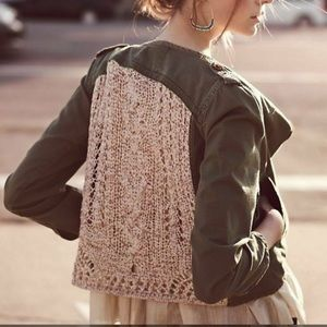 Anthro Daughters of the Lib Crochet Army Jacket 2